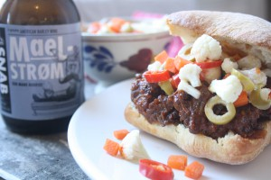 Slow cooked beef sandwich