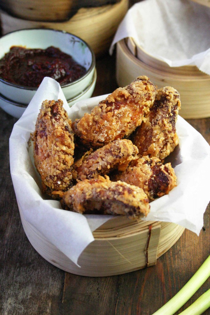 Koreaanse gefrituurde kip (Korean fried chicken)